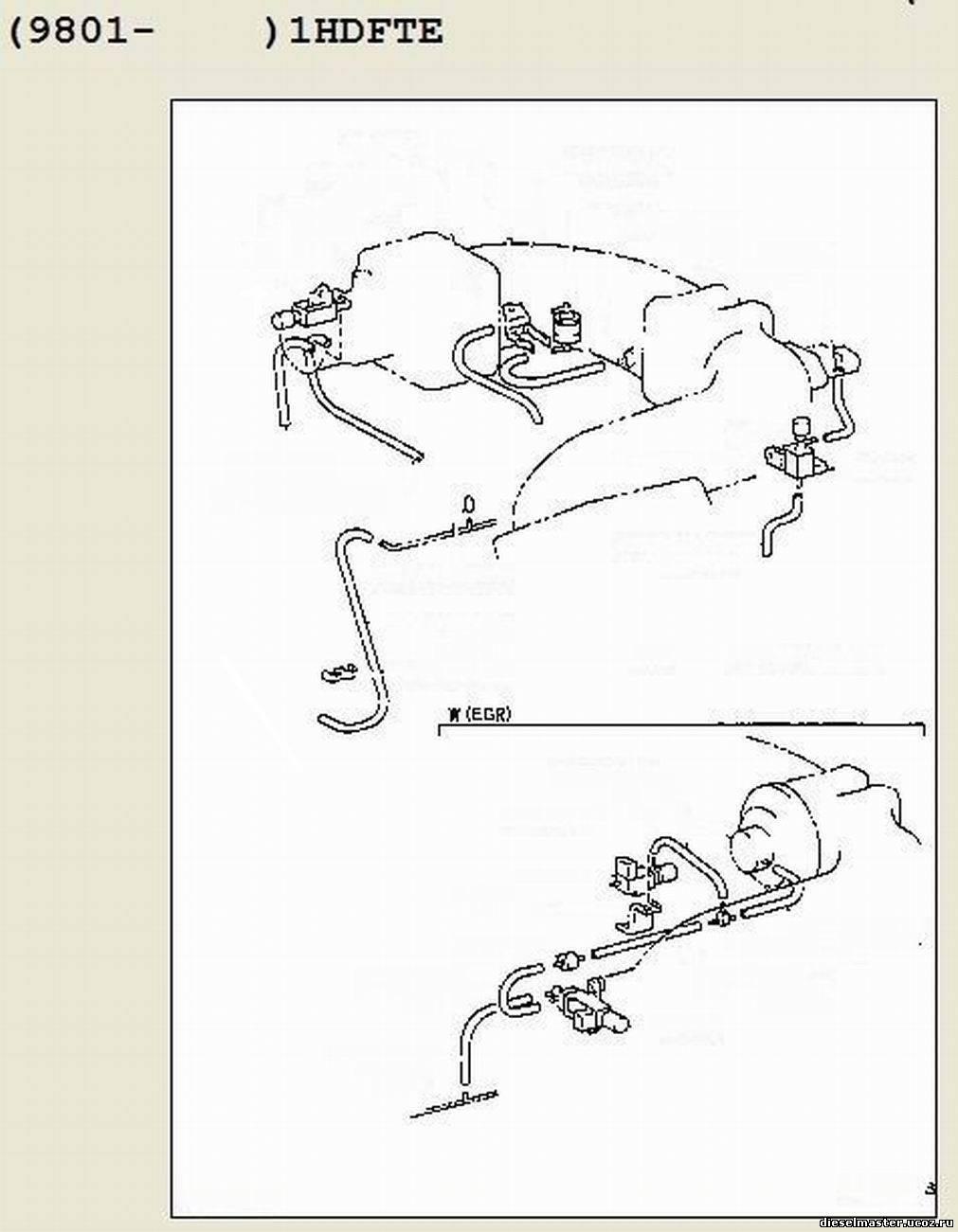схема подключения вакуумных трубок двигателя 1nt дизель